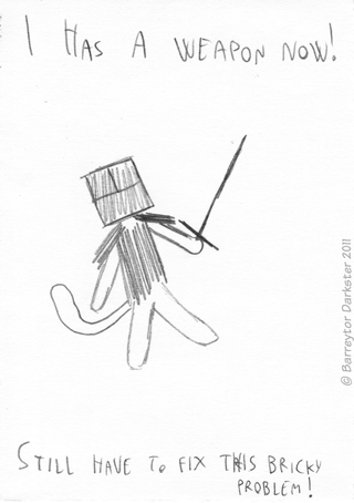 Cat Hero obtains a Weapon!